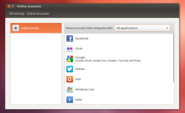 Online Accounts in Ubuntu 12.10