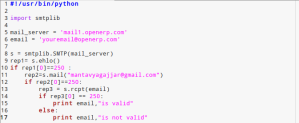 Email Address Verification on Mailserver – Proof of Concept