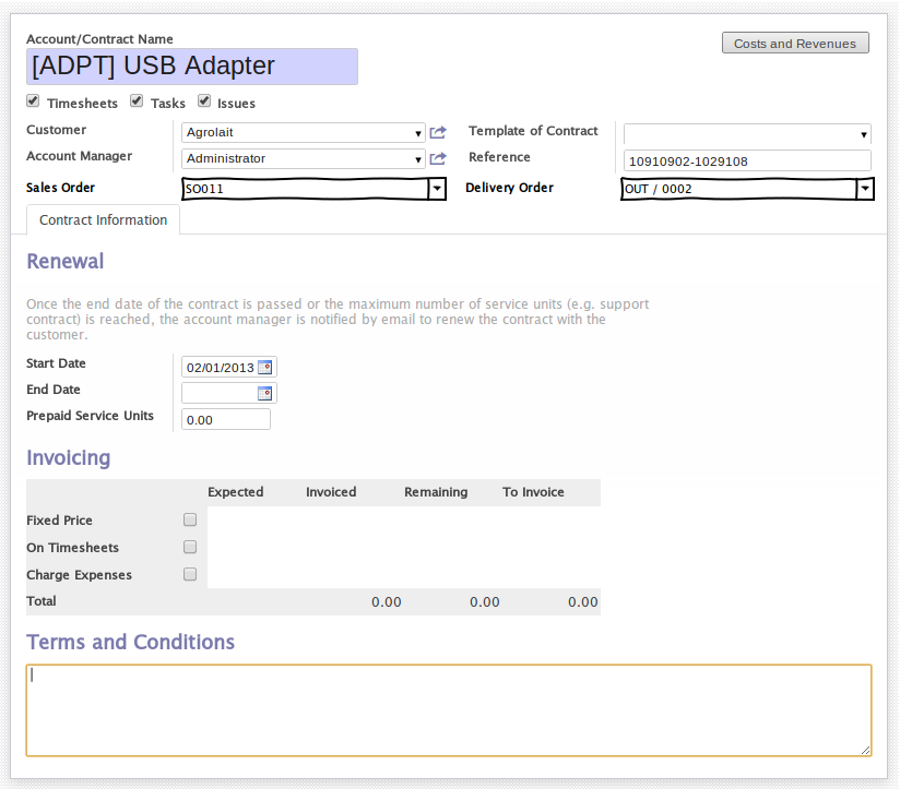 Manage service after sales in OpenERP 7.0 ! (5/6)