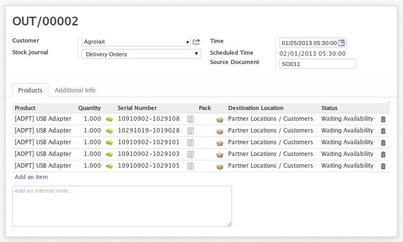 Manage service after sales in OpenERP 7.0 ! (4/6)