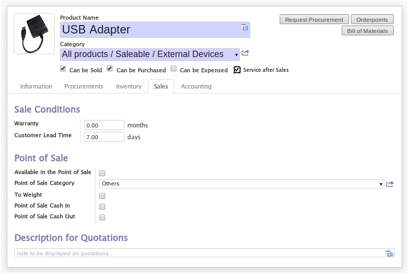 Manage service after sales in OpenERP 7.0 ! (2/6)