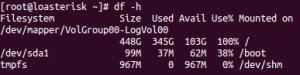 Check disk status