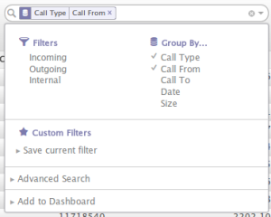 More filters and group options