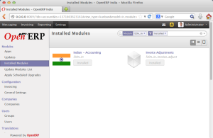 Install module l10n_in_invoice_adjust